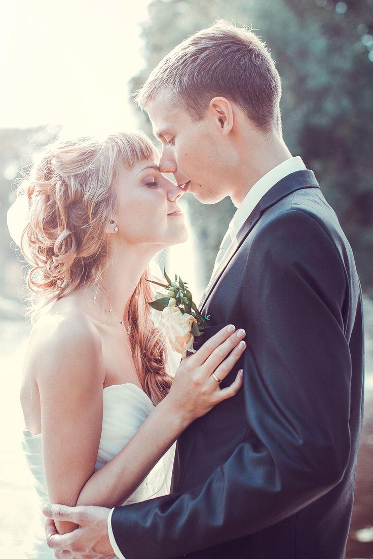 Wedding, romantic photo of very charismatic couple.
