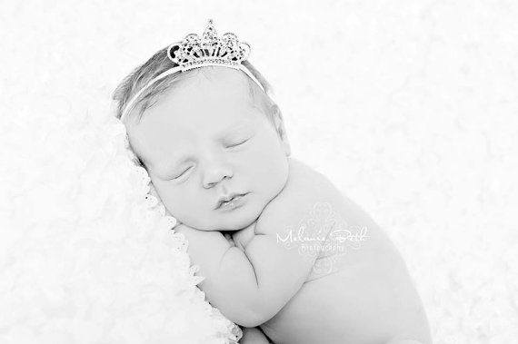 Baby Headband, Baby Tiara, Rhinestone Tiara Headband, Baby Girl Princess, Photo Prop, Christening, Newborn Toddler Child Girls Headband on Etsy, $8.95