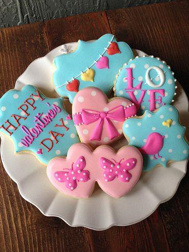 Valentine's Day Cookies  via #TheCookieCutterCompany