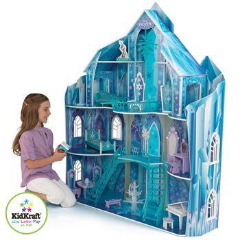 costco uk kidkraft disney174 frozen snowflake mansion