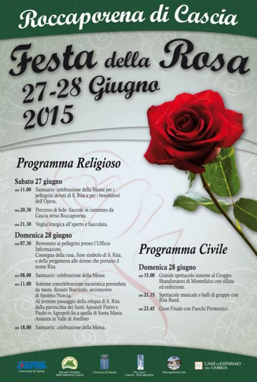 La Festa della Rosa a Roccaporena di Cascia (Pg) il 27 e 28 giugno 2015