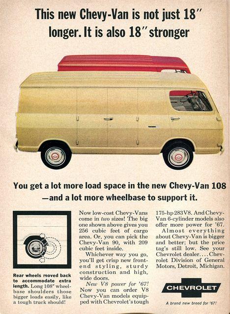 1967 Chevrolet Van Advertisement 108 Readers Digest January 1967 | Flickr - Photo Sharing!