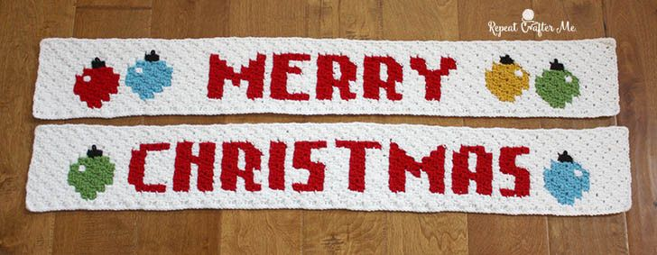 Crochet Merry Christmas Pixel Graph - Repeat Crafter Me