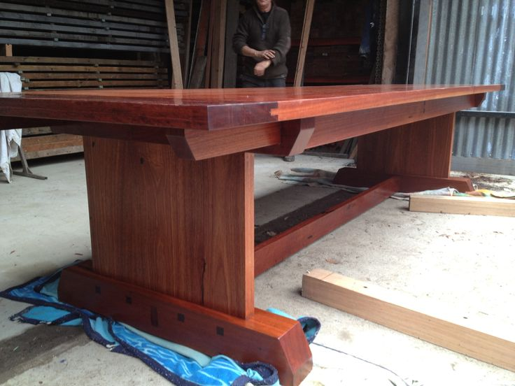 In the Workshop - Kenney Pierce Timber: Made this Recycled Sydney Blue Gum Table.
