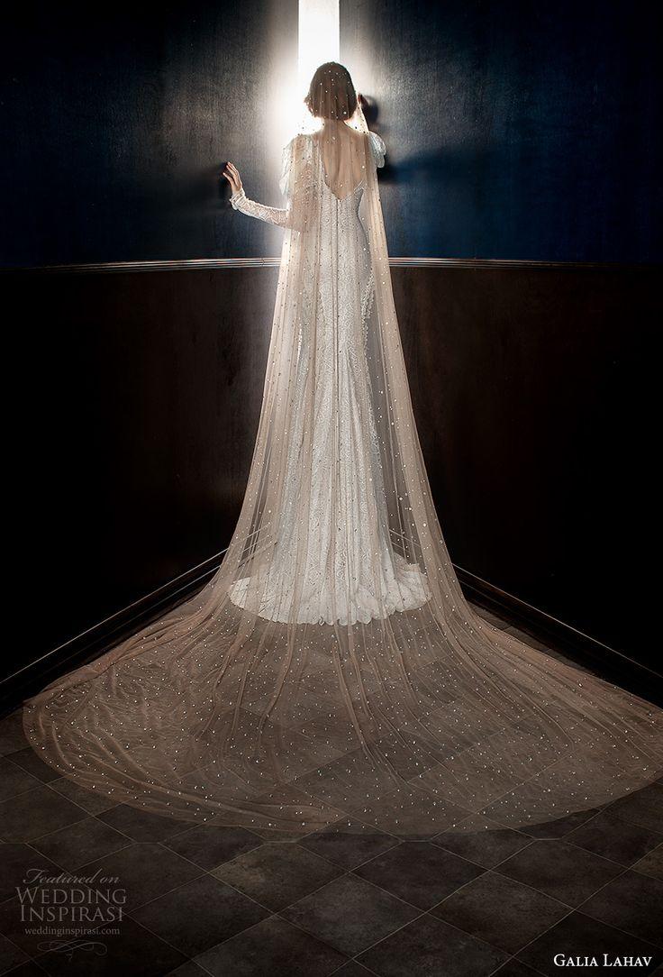 galia lahav spring 2018 long cathedral veil (stardust) mv -- Galia Lahav Spring 2018 Wedding Dresses