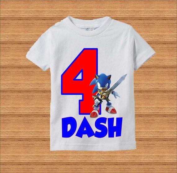 Camiseta de cumpleaños de Sonic  Sonic el Hedgehog cumpleaños
