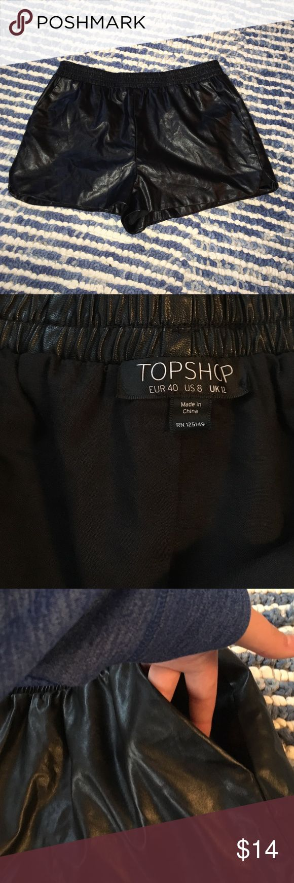 Topshop Shorts Size 8 leather black topshop shorts BUNDLE 2 ITEMS FOR 30 % OFF Topshop Shorts