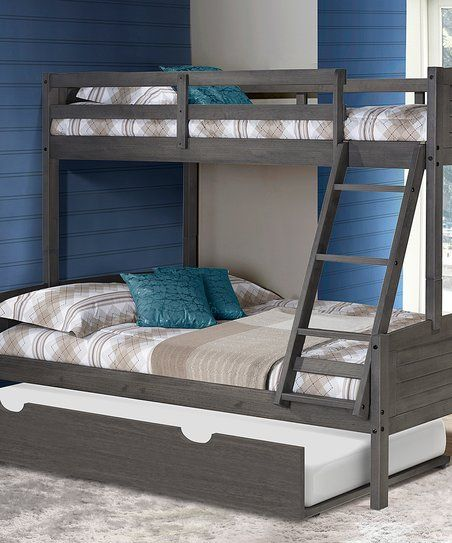 Donco Kids Gray Louver Twin Full Trundle Bunk Bed Zulily Kids