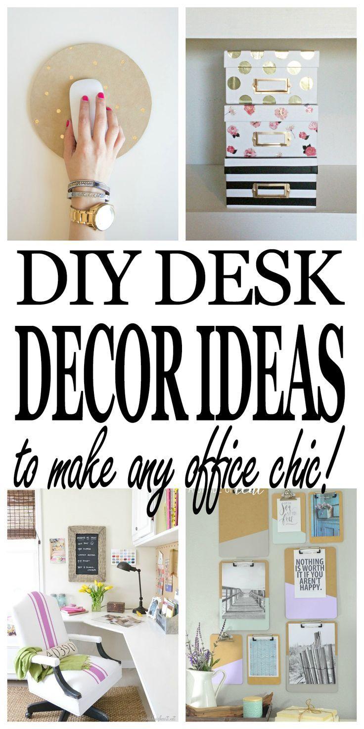 Chic Diy Desk Decor Ideas Every Office Needs Work Desk Decor