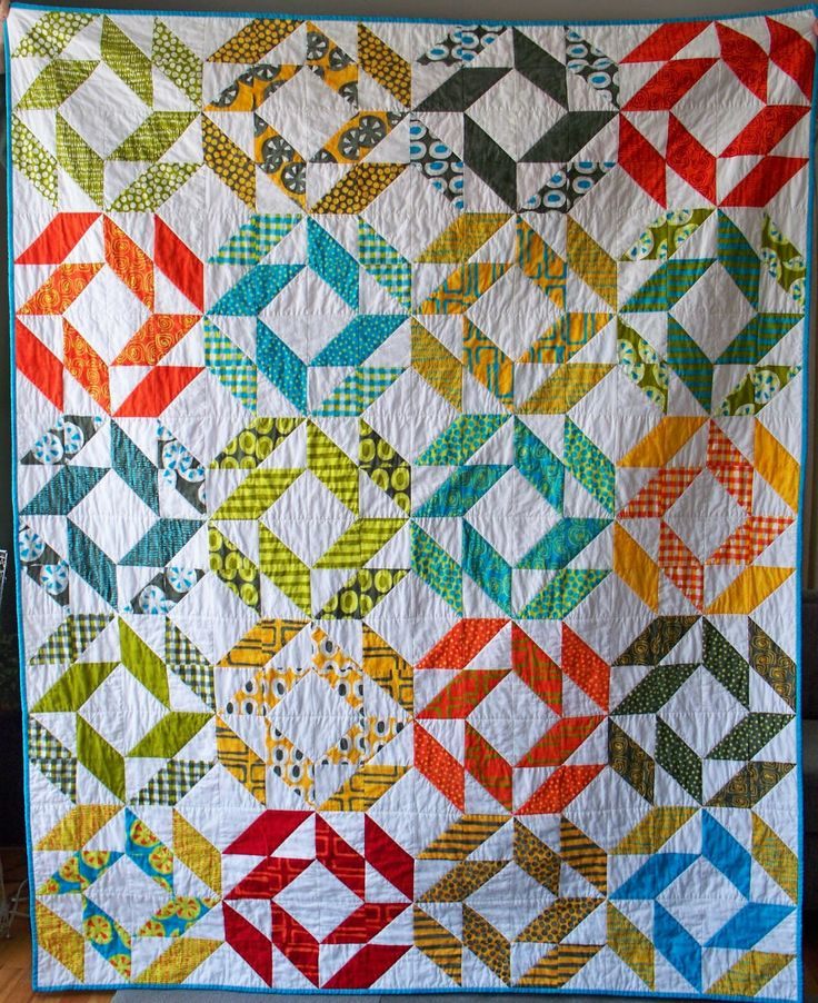 Spin Cycle Quilt (uses hst's)   Esch House Quilts