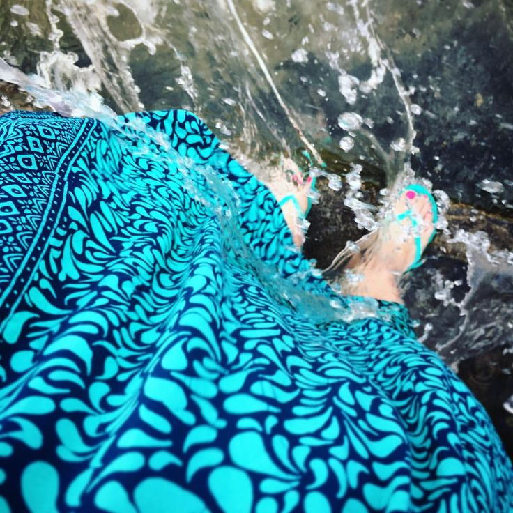 Sarong for watersprites! Such an ammmazing #lindaheringbyme post from @eva_konkoly of her #lindahering #sarongarita 💙 Keep them coming, Eva, we love to #regram your photos on our feed! 🌊 🌊 🌊 #madewithloveinbaliღ #handmade #sarong #beachthrow #newcollection #accessories #musthaves #girlfriend #hippiechic #fashionista  #bohostyle #bohemianstyle #boholuxe #boho #artisinal #freespirit #indonesia #beachfashion #resortfashion #sarongarita #arita #summer2017 #watersprite