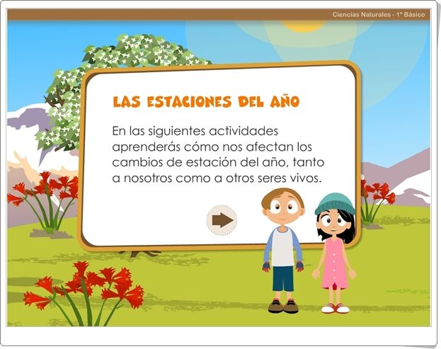 """""""Las estaciones del año"""" (Aplicación interactiva de Ciencias Sociales de Primaria)"""