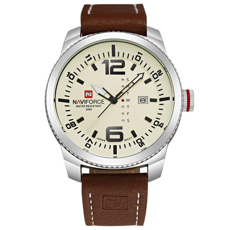 2016 Nova NAVIFORCE Homens de luxo Quartz Date relógios de marca dos homens Militar Relógio de pulso Relógio analógico Moda relógios desportivos Man Army