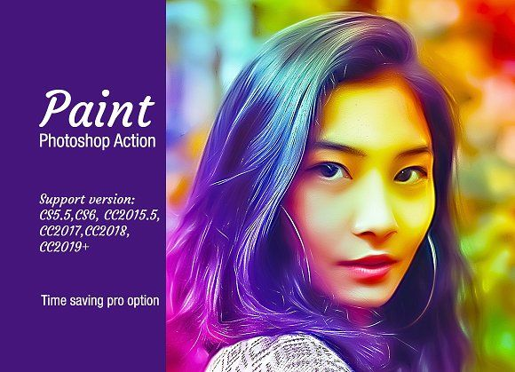 Paint Photoshop Action Photoshop Painting Photoshop