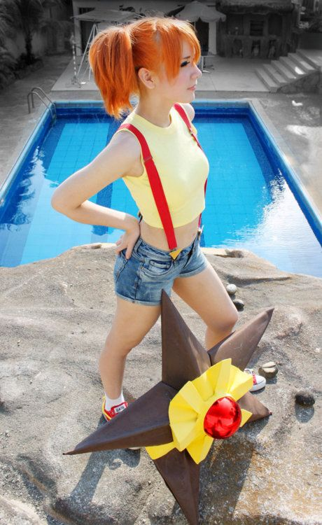 Sweet Misty costume. So cute for couples costumes because everyone's bf wants to be Ash!