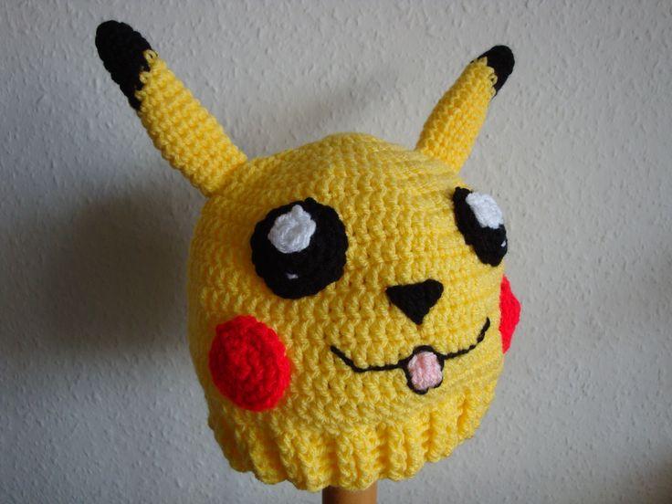 (Made by Susanne Elfrom Nguyen) Hæklet pikachu hue. Opskrift eget design