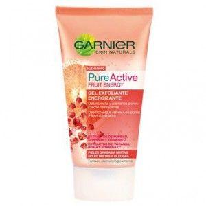 Pure Active Fruit Energy. Gel esfoliante de Garnier. Pieles Mixtas y Grasas