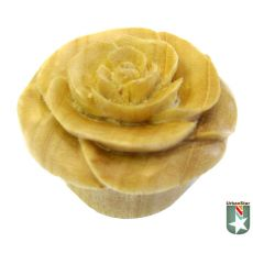 Organic Crocodile Wood Blooming White Rose Single Flared Plugs 8G - 2 (3mm - 51mm) | ORGANIC BODY PIERCING JEWELRYThe crocodile wood used in these plugs really makes the beauty of the design come through.  The blooming rose is expertly carved by Urban Star to be breathtaking.  You'll fall in love with the design but the durability and lightweight nature of these plugs will quickly make them your favorite pair of plugs.