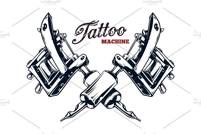 Tattoo Machine Vector Art Tattoo Machine Tattoo Machine Drawing Vector Art