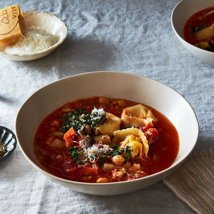 27 soups + Smoky Minestrone with Tortellini and Parsley or Basil Pesto