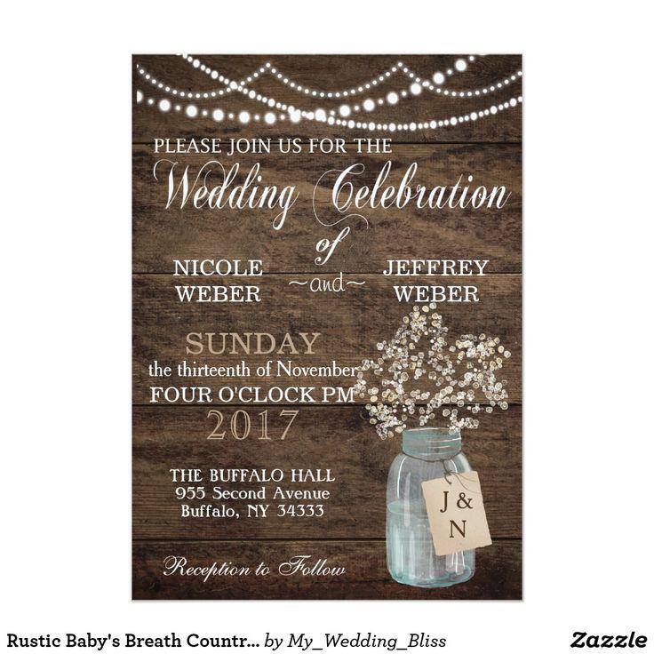 256 best mason jar wedding invitations, rustic lights wedding, Baby shower invitations