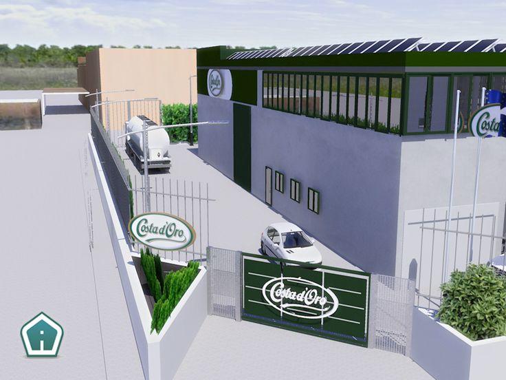 3d Garden Design - design and services: industrial building exterior rendering