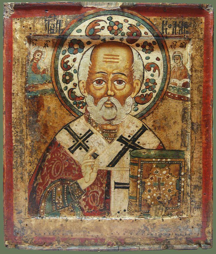 "Икона «Св. Николай Чудотворец» Середина XVIIIв. ENGLISH TRANSLATION: Icon ""St. Nicholas ""middle of the XVIII century"