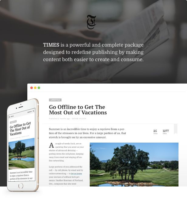 TIMES – Extraordinary Newspaper Magazine Theme