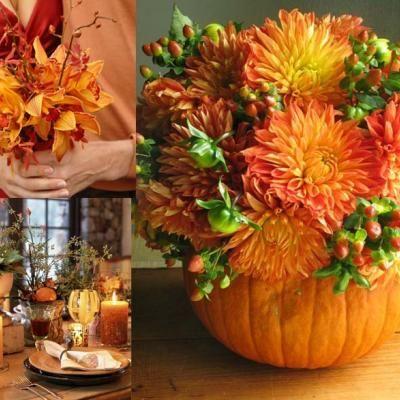 Flower Filled Pumpkin {Floral Arrangements}