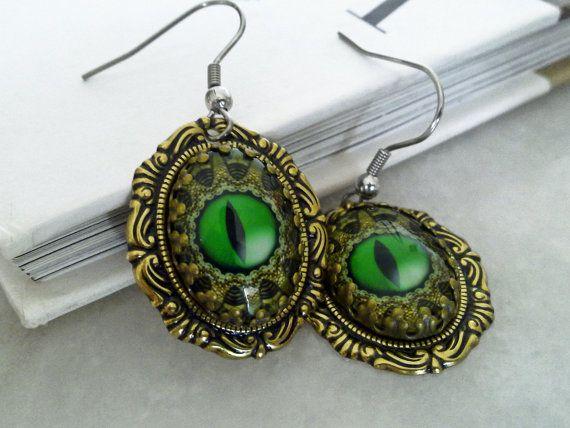 Dragon Eye Earrings by ApplebiteJewelry
