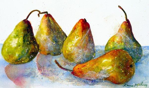 Pearspyrus Art Print by Donna Maloney | Lemon Tree Art