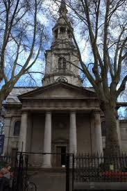 "St Leonard's Church, Shoreditch, is the church in the nursery rhyme 'Oranges and Lemons', ""when I grow rich, say the bells of Shoreditch, http://bit.ly/HFkJPS. By dint of the proximity to the precursory of the Globe Theatre it also has the grave of William Shakespeare's friend and builder of the Curtain Theatre, Richard Burbage."