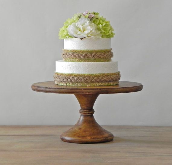 """16"""" Wedding Cake Stand Cupcake Pedestal Stand Rustic Wooden Wedding Decor By E. Isabella Designs. As Featured In Martha Stewart Weddings on Etsy, $165.00"""