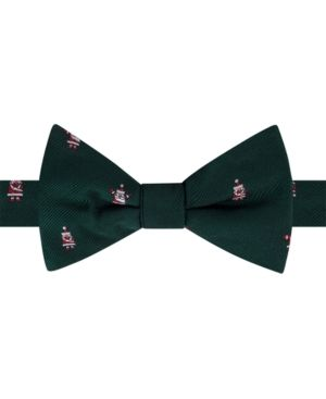 Tommy Hilfiger Men's Santa To-Tie Silk Bow Tie - Green