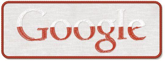 Narodowe Święto Niepodległości Google's logo in Poland on Polish Independence Day