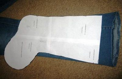 Denim Christmas Stocking Pattern | All the stocking patterns I found showed a cuff which was sewn on ...