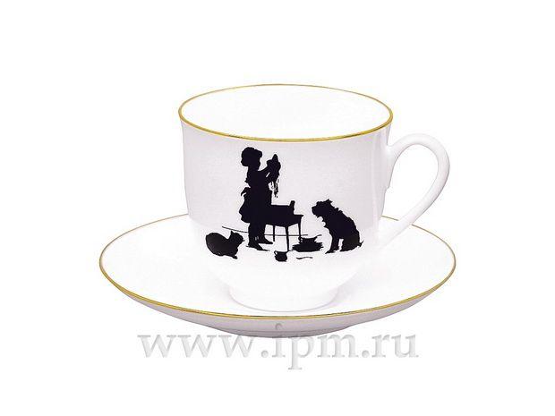 """Чашка с блюдцем кофейная Ландыш """"Помощница"""" 180 мл  арт. 81.15706.00.1"""