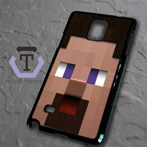 Minecraft Steve Head Samsung Galaxy Note Edge Black Case