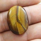 22.40Cts 100% Natural Flashy Tiger Eye Stone Ellipse Untreated African Gemstone