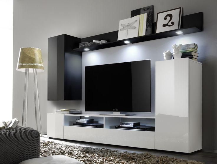 Wohnwand weiß grau hochglanz  Die besten 25+ Wohnwand schwarz hochglanz Ideen auf Pinterest ...