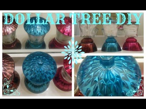 DIY BEAUTIFUL COLORED MIRROR JAR SET -DOLLAR TREE / MICHAELS CRAFT - YouTube