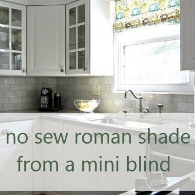 DIY No Sew Roman Shade {Curtains}