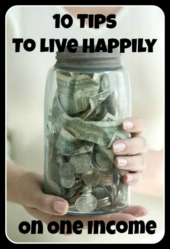 How to be happy living on just one income