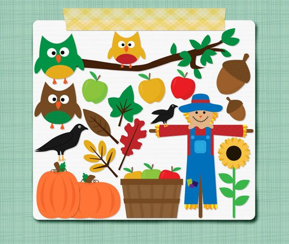 Seriously, how cute are these!!  Fall Clip Art Autumn Clipart  Clipart Digital by SimplyBrenna, $3.00