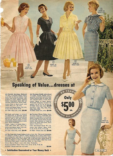 Now we know where June Cleaver shopped! (Although I'm sure Mayfield had fine dress shops too.) Montgomery Ward Summer 1961 catalog | Flickr - Photo Sharing!