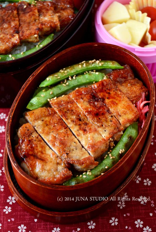 Pork Saute Bento ポークステーキ丼弁当