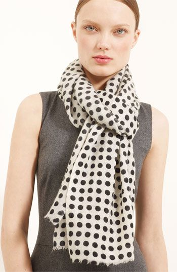 Oscar de la Renta Polka Dot Cashmere Scarf available at Nordstrom  love... but of course.. it is polka dotted..
