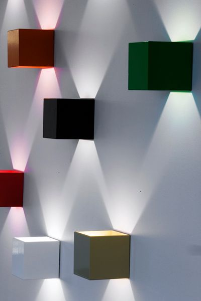 W1 cube wall lights by Lighthouse, Iceland