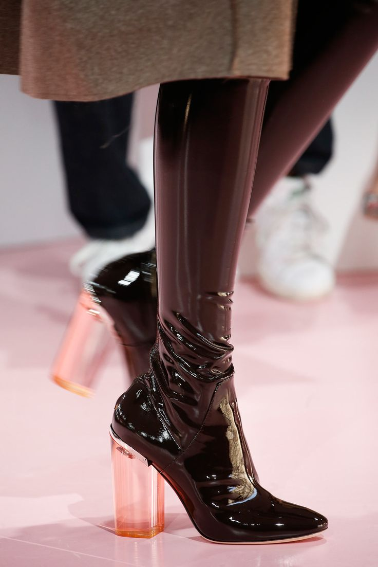 Christian Dior Fall 2015 #boots #patent #leather