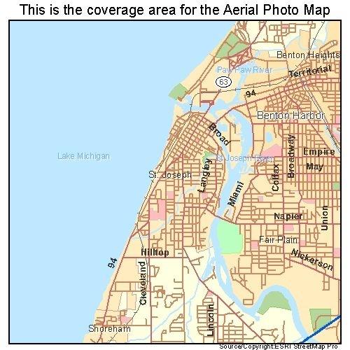 St Joseph, MI Michigan Aerial Photography Map 2010
